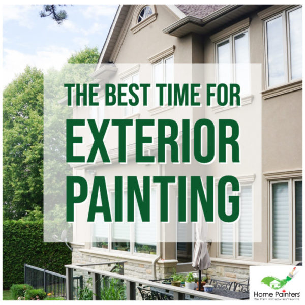 whats the best time for exterior painting, wood trim painting cost