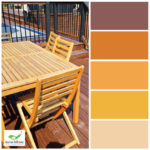 warm colour palette deck and patio furniture staining from home painters company in toronto