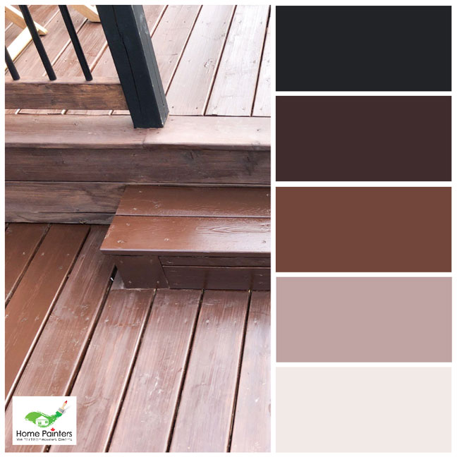 brown tones deck staining by home painters company in toronto warm monochromatic colour scheme