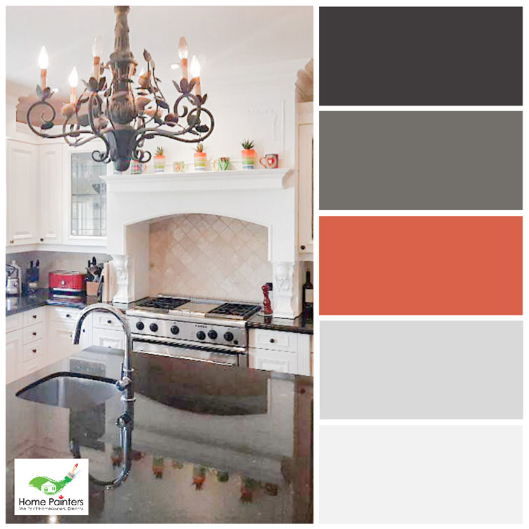 country style kitchen in canada painted by local toronto house painters, how to use a colour wheel. complementary colours, interior house painters, home painting services