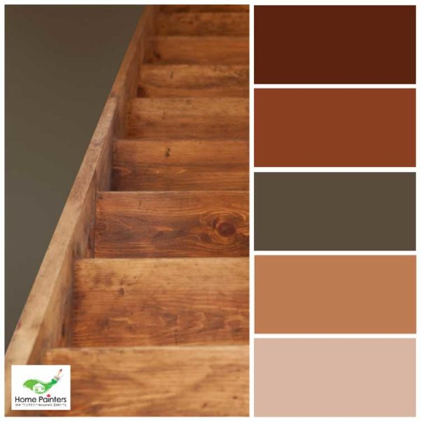 oak wood stairs staining house painters in toronto