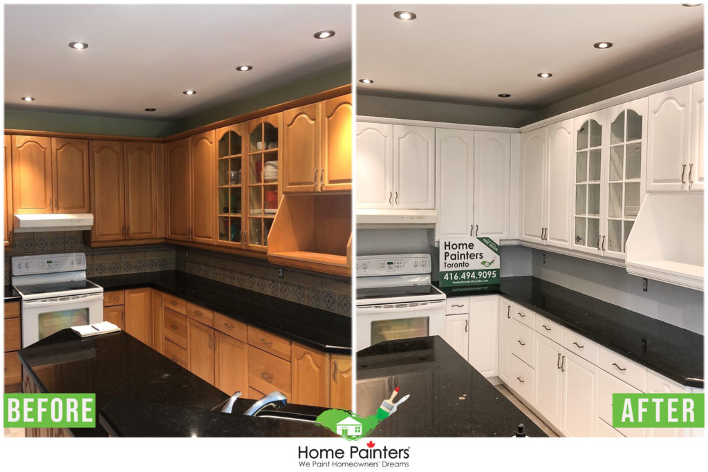 2021 Cost Of Cabinet Refinishing Cost To Stain Kitchen