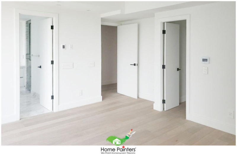 how much to paint a condo in toronto, condo interior painted white with light oak hardwood floor