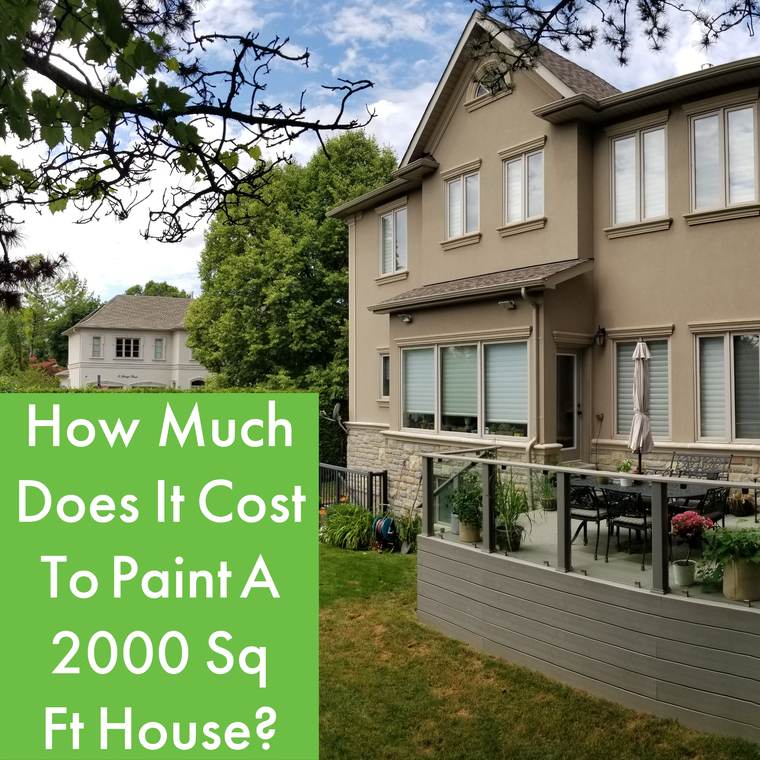 How Much Does It Cost To Paint A 2000 Sq Ft House?
