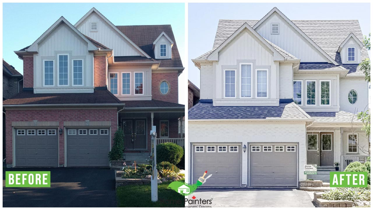 exterior painting brick staining home painters toronto project